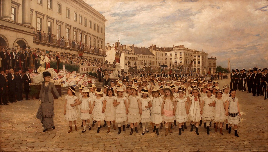 ベル通】学童達のパレード 1878...